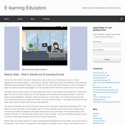 Step by Step - How to Gamify any E-Learning Course