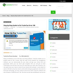 Step-by-Step Guide to Fix TurboTax Error 190