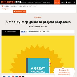 A step-by-step guide to project proposals