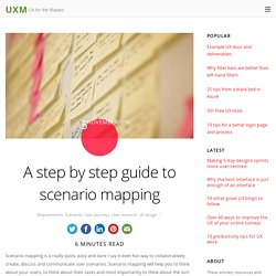 A step by step guide to scenario mapping