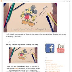Step By Step Mickey Mouse Drawing Full Body