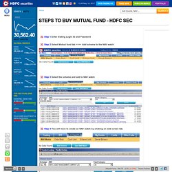 Buy Mutual Fund Online at HDFC Securities