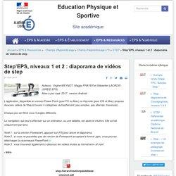 Step'EPS, niveaux 1 et 2 : diaporama de vidéos de step