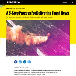 A 5-Step Process For Delivering Tough News