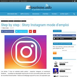 Step by step : Story Instagram mode d'emploi