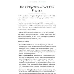 The 7-Step Write a Book Fast Program