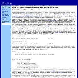 NSD, un autre serveur de noms pour servir ses zones