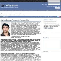 """Stéphane Bonnery : """"comprendre l'échec scolaire"""""""