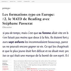 Le MATD de Reading avec Stéphane Passerat