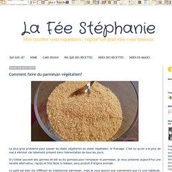 La Fée Stéphanie: Comment faire du parmesan végétalien?