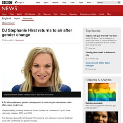 DJ Stephanie Hirst returns to air after gender change - BBC News