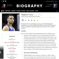 Stephen Curry - Athlete, Famous Basketball Players