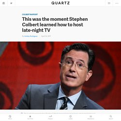 This was the moment Stephen Colbert mastered hosting late-night TV (and left Jimmy Fallon in the dust) — Quartz