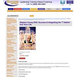 Stephen Covey 7 Habits Motivational DVD Video