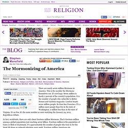 Stephen Mansfield: The Mormonizing of America