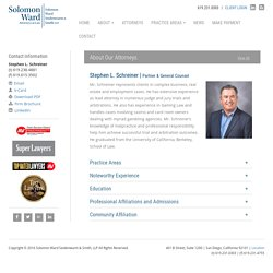 Stephen L. Schreiner - Partner & General Counsel