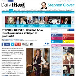 STEPHEN GLOVER: Couldn't Afua Hirsch summon a smidgen of gratitude?