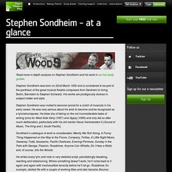 Stephen Sondheim - at a glance