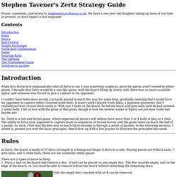 Stephen Tavener's Zertz Strategy Guide