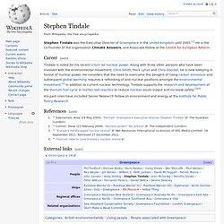 Stephen Tindale