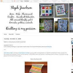 stephjacobson: fabric strip burp cloth tutorial