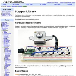 Stepper Arduino Library, connecting Stepper Motors to Teensy