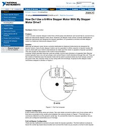 How Do I Use a 6-Wire Stepper Motor With My Stepper Motor Drive?