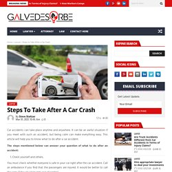Steps to Take After a Car Crash