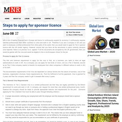 Steps to apply for sponsor licence