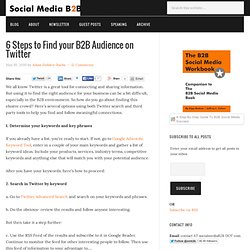 6 Steps to Find your B2B Audience on Twitter