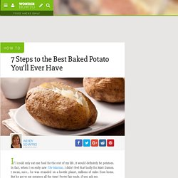 7 Steps to the Best Baked Potato You'll Ever Have « Food Hacks Daily