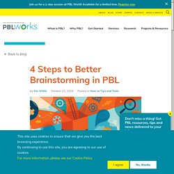 4 Steps to Better Brainstorming in PBL