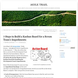 7 Steps to Build a Kanban Board for a Scrum Team's Impediments » Agile Trail