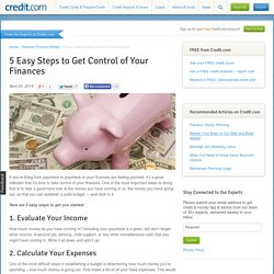 5 Easy Steps to Get Control of Your Finances