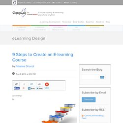 9 Steps to Create an E-learning Course