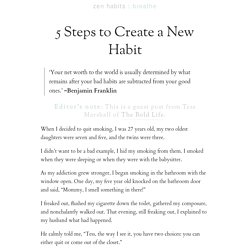 5 Steps to Create a New Habit