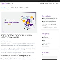 5 steps to create the Best Social Media Marketing Plan in 2020