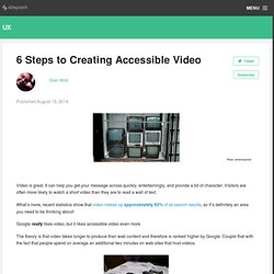 8 Steps to Creating Accessible Video