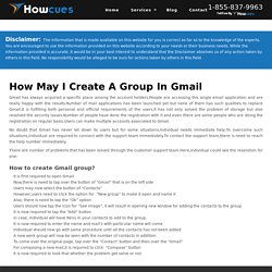 Steps for Creating a Contact Group in Gmail