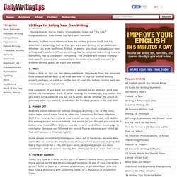 10 Steps for Editing Your Own Writing
