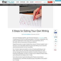 5 Steps for Editing Your Own Writing