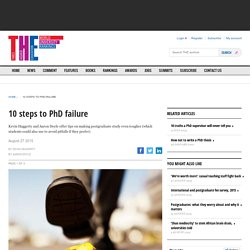 10 steps to PhD failure