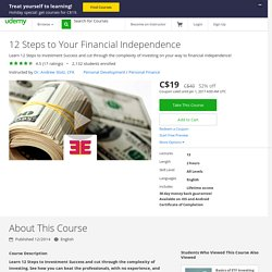 12 Steps to Your Financial Independence