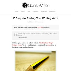 10 Steps to Finding Your Writing Voice