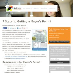 7 Steps to Getting a Mayor's Permit