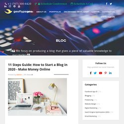 11 Steps Guide: How to Start a Blog in 2020 - Make Money Online