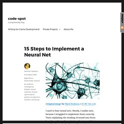 15 Steps to Implement a Neural Net – code-spot
