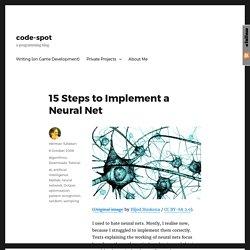 15 Steps to Implement a Neural Net – code-spot