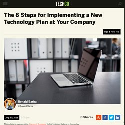 The 8 Steps for Implementing a New Technology Plan
