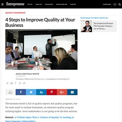 4 Steps to Improve Quality at Your Business